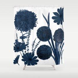 Blue Shift I Shower Curtain