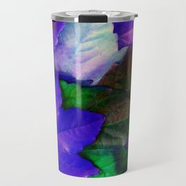 The Purple Leaves of Autumn Travel Mug