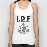 israel Tank Tops featuring IDF Israel Defense Forces - with Symbol - ENG by crouchingpixel