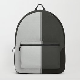 Black and White Geometric Backpack