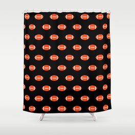Florida fan university gators orange and blue college sports footballs pattern Shower Curtain