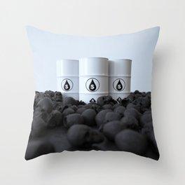 The price of oil Throw Pillow