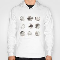 moon phases Hoodies featuring Moon phases by Dreamy Me