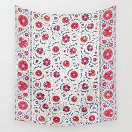 Kermina Suzani Uzbekistan Embroidery Print Wall Tapestry