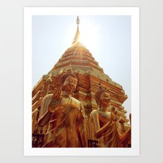 Blessed Buddha Art Print