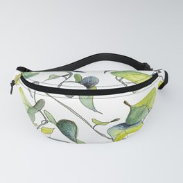 Blue and Green Vines, Pattern Fanny Pack