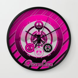 One Love (Pink) Wall Clock