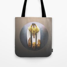Christmas Banana Triptych Tote Bag
