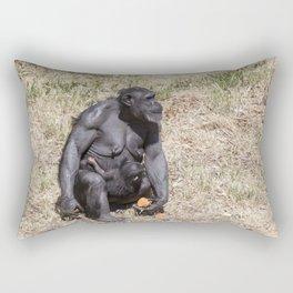 Chimpanzee with infant Rectangular Pillow