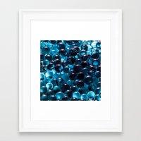 bubbles Framed Art Prints featuring Bubbles by Kristina Jovanova