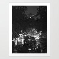 Beijing after rain at Night Time Art Print