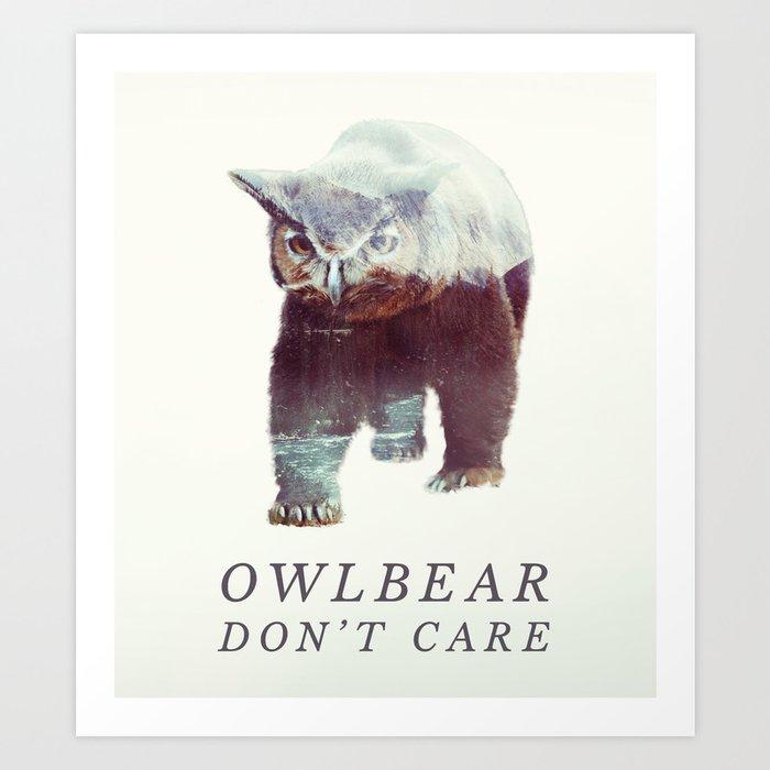 Owlbear (Typography) Kunstdrucke