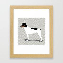 Roaring Japanese Terrier by IxCO Framed Art Print