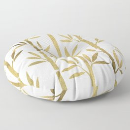 Bamboo Stems – Gold Palette Floor Pillow
