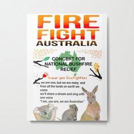 The Concert Fight Australia Metal Print