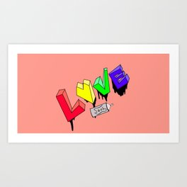 Love Graffiti  Art Print