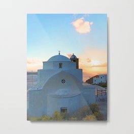 229. Sunet Chapel, Greece Metal Print