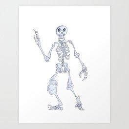 Happy skeleton Art Print