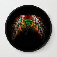 wings Wall Clocks featuring Wings  by jbjart