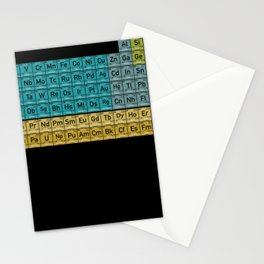 Periodic Table Of The Elements Nerd Stationery Cards