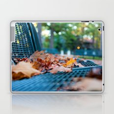 Bench with Autumn Leaves Laptop & iPad Skin