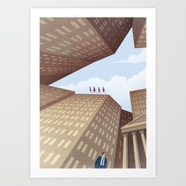 The Shark of Wall Street Art Print