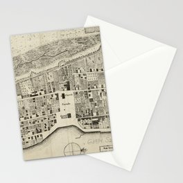 Vintage Map of St. Augustine FL (1764) Stationery Cards