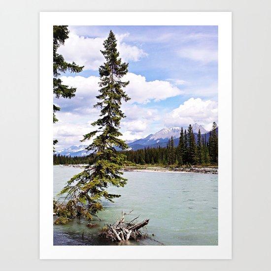 Alberta River Landscape Art Print