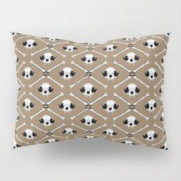 cat skull pattern on brown Pillow Sham