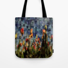 Champ de Tulipes Mosaïque Tote Bag