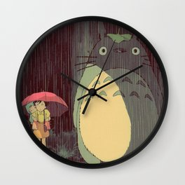 My Neighbor Totoro (Waiting for the bus in the rain IN THE RAIN) Wall Clock