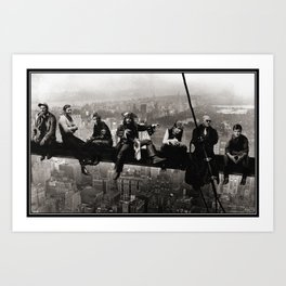 Captains atop a Skyscraper Art Print