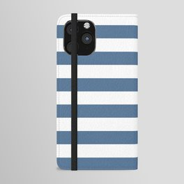 Blue and White Stripes iPhone Wallet Case