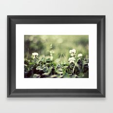 morning flowers fading Framed Art Print