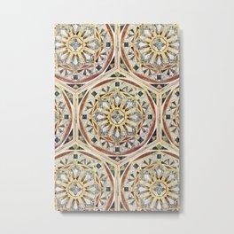 Mandala - Geometric marble Metal Print