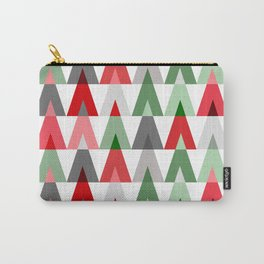 Deer Head Geometric Triangles | white red green Carry-All Pouch
