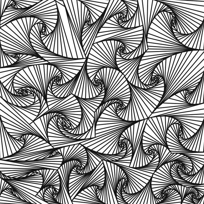 Fractal Sketch Light Duvet Cover