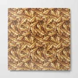 Atumn Leaves Oak Pattern Metal Print