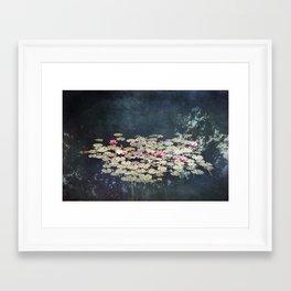 waterlilies pond Framed Art Print