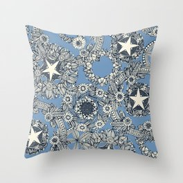 cirque fleur blue Throw Pillow