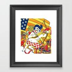 Fast Food America Framed Art Print
