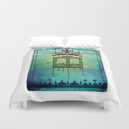 travelling with elephants Duvet Cover