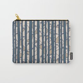 Into The Woods blue cream Carry-All Pouch