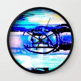 Purple Rune Wall Clock