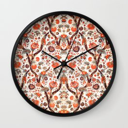 Floral Fabric Vintage Gift Pattern #7 Wall Clock