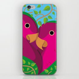 Tropical Lovebirds iPhone Skin