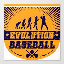 Evolution Baseball Canvas Print