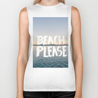 beach Biker Tanks featuring Beach by Trend