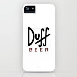 Duff Beer Logo Black iPhone Case