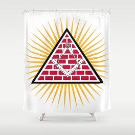 Freemasonry symbol Shower Curtain